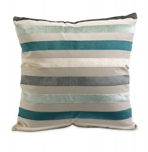 Blue Striped Pillow from Home Element