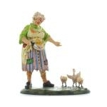 Dept 56 Zombie Woman Eyeing Chickens from Santa Claus Christmas Store