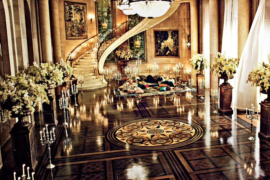 The Great Gatsby Movie Set, Ballroom image from mylusciouslife