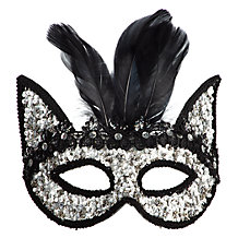Sequined Feather Mask Z Gallerie